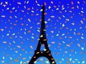 Eiffel tower in autumn Stock Illustration