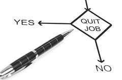 quit job - stock photo