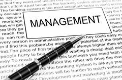 Stock Photo of management word