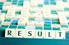Result word Stock Photos