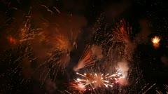 Christmassy fireworks Stock Footage