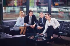 Business people making deal Stock Photos