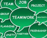 Teamwork cloud Stock Illustration