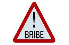 bribe sign - stock illustration