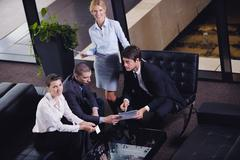 business people making deal - stock photo