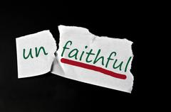 faithful message - stock photo