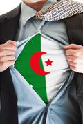 algeria flag on shirt - stock photo