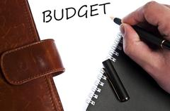 budget message - stock photo