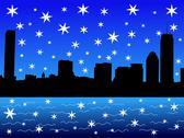 Boston in winter Stock Illustration