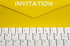 invitation message - stock photo