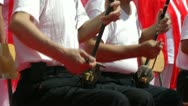 Older people playing traditional Chinese instruments Stock Footage