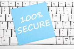 100% secure message Stock Photos