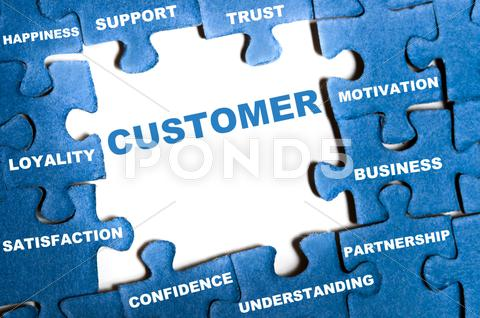 Stock Illustration of customer puzzle