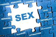 Sex puzzle Stock Illustration