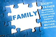 Family puzzle Stock Illustration