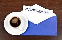 confidential message - stock photo