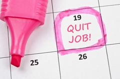 Quit job mark Stock Photos