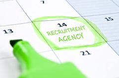 Recruitment agency mark Stock Photos