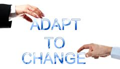 adapt to change words - stock photo