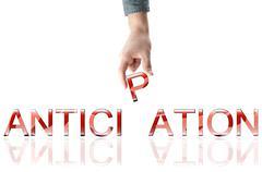 anticipation word - stock photo