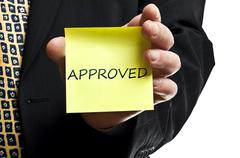 approved post it - stock photo