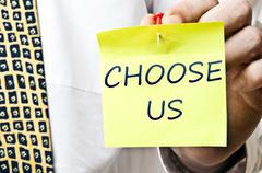 choose us - stock photo