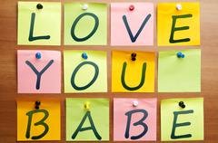 love you babe - stock photo