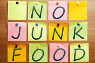 Stock Photo of no junk food