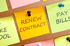 renew contract - stock photo