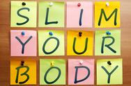 Stock Photo of slim your body ad
