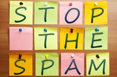 Stop the spam Stock Photos