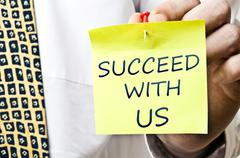 succeed with us - stock photo