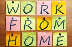 Work from home ad Stock Photos