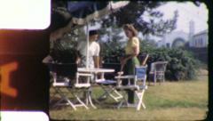 Suburban TENNIS BABES Women California 1940s (Vintage Film Home Movie) 6059 Stock Footage