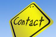 Contact word on road sign Stock Illustration