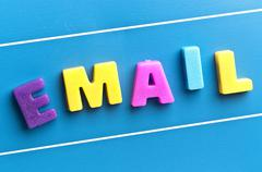 email word on blue board - stock photo