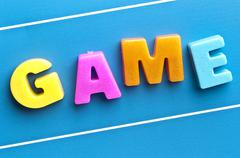 game word on blue board - stock photo