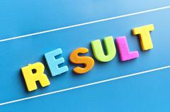result word on blue board - stock photo