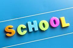 school word on blue board - stock photo
