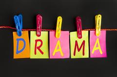 Drama word Stock Photos