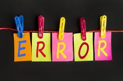 error word - stock photo