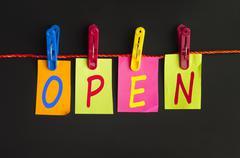 open word - stock photo