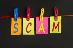 scam word - stock photo