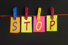 stop word - stock photo