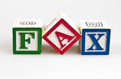 fax word - stock photo