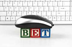 Bet word Stock Photos