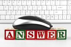 Answer word Stock Photos