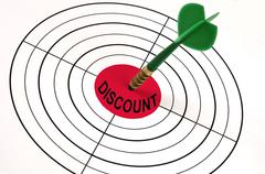 Discount word on target Stock Illustration
