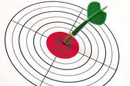 House shape word on target Stock Illustration