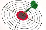 Mail shape on target Stock Illustration